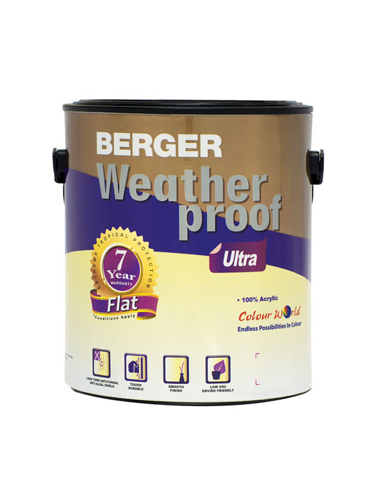 Berger Weatherproof Ultra Flat 1 Gallon