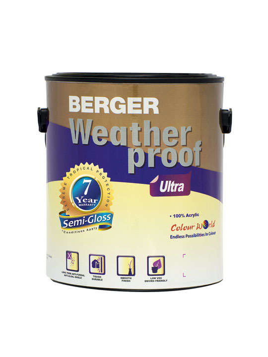 Berger Weatherproof Ultra Semi-Gloss 1 Gallon